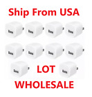 Lot OF White 1A USB Power Adapter AC Home Wall Charger Plug FOR iPhone 5 6 7 8 X