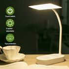 LED USB Rechargeable Table Lamp Desk Light Flexible Adjustable Angle Home Decor@