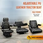 Tractor Seat Excavator Forklift Truck Backrest Seat Suspension Chair PU Leather