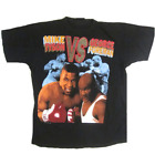 Vintage Mike Tyson vs George Foreman Reprint Cotton Black Men T-shirt YY020 image