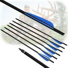 16-22 inch Crossbow Carbon Target Tips Bolts 4'' Vanes Bow Arrows for Hunting