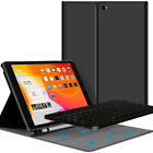 "For iPad 7th Gen 10.2""Tab 2019 Bluetooth Keyboard Case Stand with Pencil Holder"