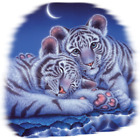 Two Babies-Tiger Size Youth Small-6 X Large T Shirt Size image