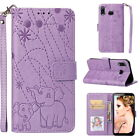 Embossed PU Leather Case Magnetic Wallet Cover For Samsung Galaxy M10 A6s A8s A7