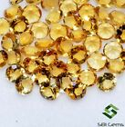 Natural Citrine Round Cut 3 mm Lot Lustrous Calibrated Faceted Loose Gemstones