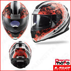 CASCO INTEGRALE FULL FACE DOPPIA VISIERA LS2 STREAM EVO FF320 THRONE WHITE ORANG