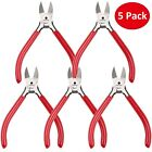 Precision Diagonal Cutting Pliers Side Cutter Nippers Wire Cutter Clippers 5Pack