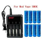 3000mAh 18650 Battery High Drain Rechargeable 3.7V Li-ion Flat Top For Doorbell