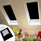 Blackout Blind Curtains Suction Cup Thermal for Velux Roof Anti-UV Window Black