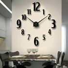 Creative Round DIY Mirror Wall Clock Stickers Living Room Wall Clock Home Decor