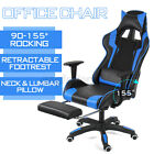 Gaming Chair Office Racing Style 155° Recliner Computer Seat Swivel Desk Chair
