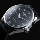 Classic Automatic Mechanical Watch Business Stainless Steel Leather Mens Watches