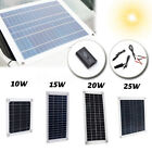 15/20/25/40/50W Solar Panel Waterproof Car Battery Charger Camping RV Retirement community