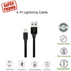 For iPhone 6 7 8 iPhone Xs Xr 5 Lightning Charger Cord Heavy Duty Charging Cable