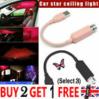 Plug And Play - Car And Home Ceiling Romantic Usb Night Light For Party Uk Gg
