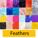"Feathers 3"" to 5"" Mixed 50g - Birthday Party Table Balloon Decoration Craft"
