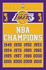 246343 LOS ANGELES LAKERS NBA Champions Years WALL PRINT POSTER US on eBay