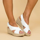 Women Platform Wedge Sandals Ladies Summer Beach Espadrilles Shoes Slippers Size