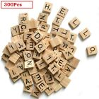 Upto 500x Wooden Alphabet Scrabble Tiles Black Letters & Numbers For Crafts Wood