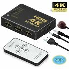 4K 1080P 5/3 Port HDMI HDTV Auto Switch Switcher Selector Splitter Hub iR Remote