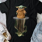 Baby Yoda And Master Yoda Water Reflection Star Wars Black Men Women T-shirt $16.99 USD on eBay