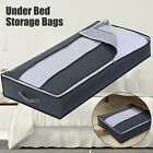 Lot Home Organizer Foldable Under Bed Storage Case Box Container Handle Gray Bag