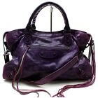 Balenciaga Hand Bag  Purple Leather 824524