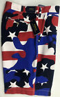 Polo Ralph Lauren Mens Shorts Relaxed Fit Red Blue Camo Stars Cotton NEW