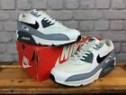 NIKE MENS AIR MAX 90 ESSENTIAL WHITE GREY BLACK TRAINERS VARIOUS SIZES T