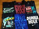 NWT, Men's NIKE T-SHIRT Graphic Tee Crew Neck Cotton Blend Athletic Fit image