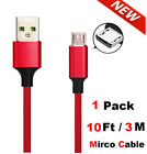 Micro USB Cable Fast Charging Long Cord for Samsung J2 J7 S6 S7 Android HTC LG