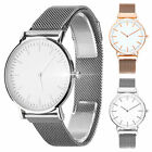Durable Classic Soft Alloy Strap Mesh Band Women Ladies Wrist Watches Simple image