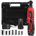 """3/8""""Cordless Electric Ratchet Wrench, 12V Power Electric Ratchet Tool Kit"""