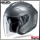 CASCO JET OPEN FACE DOPPIA VISIERA HJC IS-33 II SEMI FLAT CR SILVER ARGENTO