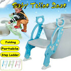 Folding Baby Kids Potty Training Toilet Chair Ladder Design Soft Seat  image