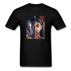 KOBE & GIANNA BRYANT BLACK MAMBA T SHIRT ART Lakers Game T-Shirt Size S-2XL