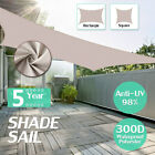 300D Kahki Heavy Duty Shade Sail Sun Outdoor Garden Patio Awning Canopy UV  !