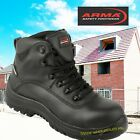 ARMA Leather Safety Toe Cap Lace Work Waterproof Mens Ankle Boots Black Raptor