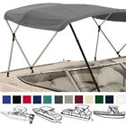 Deluxe 4 Bow Bimini Top Boat Cover Set with Boot and Rear Support Poles  image