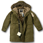 NWT Hollister by Abercrombie&Fitch Men's Faux Fur Lined Military Parka Jacket