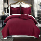 Luxury Checkered Quilted Wrinkle Free Burgundy 6 PC Microfiber Coverlet Sets image