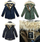 NWT Hollister by Abercrombie&Fitch Women's Faux Fur Lined Parka Jacket Coat