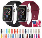For Apple Watch iWatch Strap Band Series 5 4 3 2 1 Comfortable Silica gel Sport image