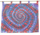 """Thick Cotton Hippie Tie dye dyed (1 panel) Tab Top curtain curtains 42"""" x 34.5"""""""