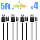 10-PACK 5FT Type-C Nylon Braided USB Data Sync Charger Charging Cable Cord