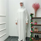 Abaya Muslim Women Dress Islamic Kaftan Jilbab Prayer Maxi Dress Arab Robe Gown