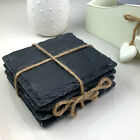 10 x 10cm Square Natural Slate Coaster Drinks Mat for Engraver Wholesale Blanks