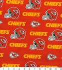 """Kansas City Chiefs Fabric NFL Cotton Broadcloth 58"""" Wide Quilt Shop Quality $9.18 USD on eBay"""