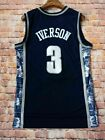 Allen Iverson #3 Georgetown Hoyas Philadelphia 76ers Basketball Jersey Gray Blue on eBay