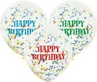 6 Pack Confetti Balloon Birthdays Parties Weddings Decorations Multi Colours 12